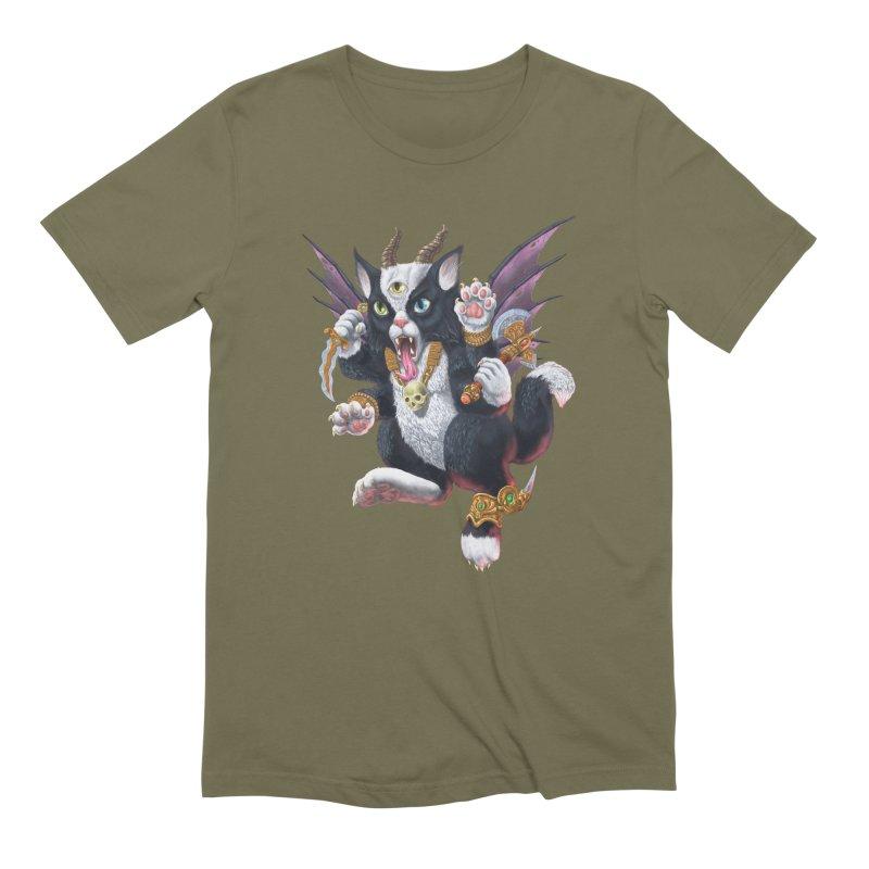 Demon Kitten Men's Extra Soft T-Shirt by Octophant's Artist Shop