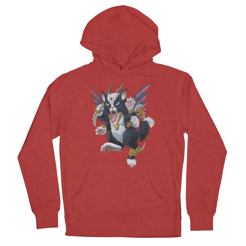 Demon Kitten Men's French Terry Pullover Hoody by Octophant's Artist Shop