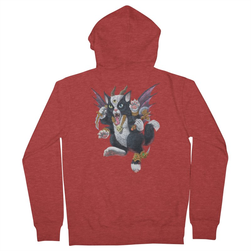 Demon Kitten Men's French Terry Zip-Up Hoody by Octophant's Artist Shop