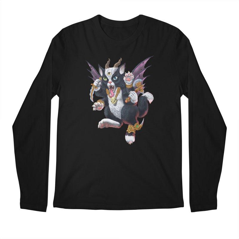 Demon Kitten Men's Regular Longsleeve T-Shirt by Octophant's Artist Shop