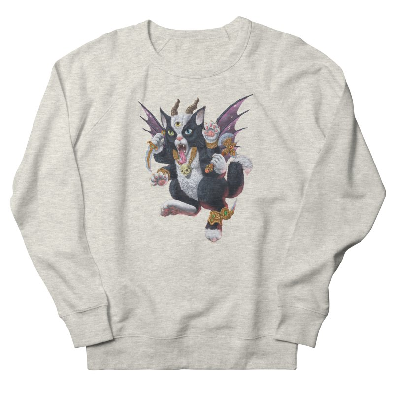 Demon Kitten Women's French Terry Sweatshirt by Octophant's Artist Shop