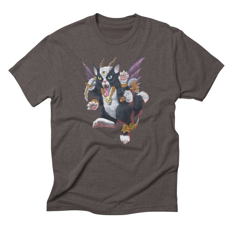 Demon Kitten Men's Triblend T-Shirt by Octophant's Artist Shop