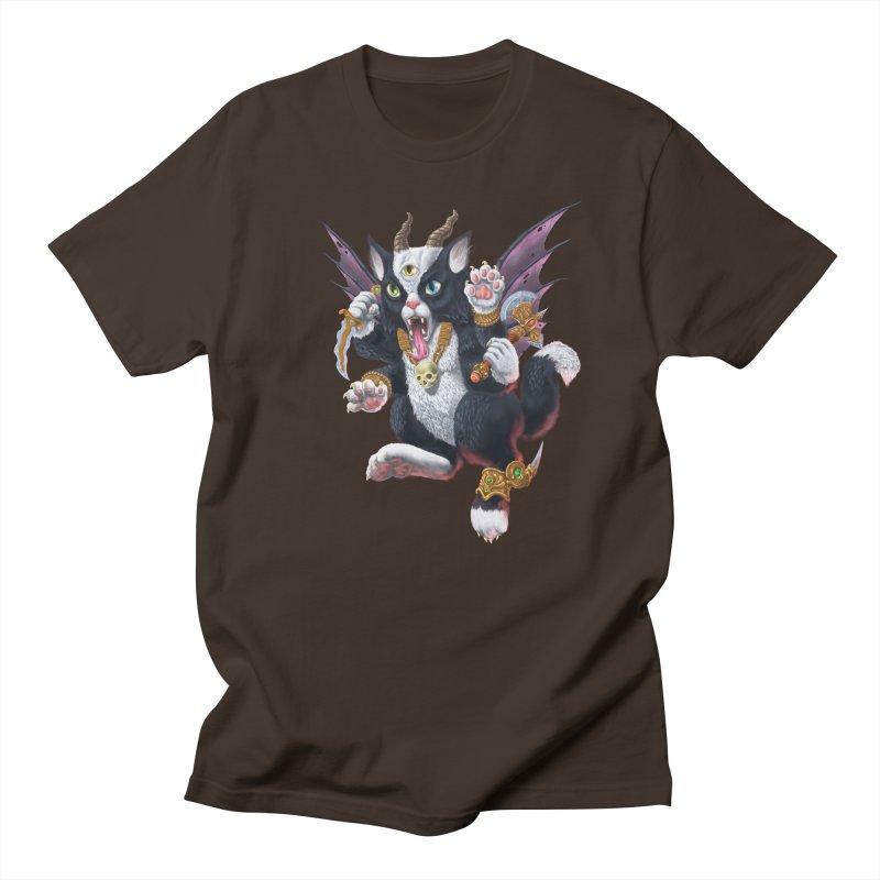 Demon Kitten Men's Regular T-Shirt by Octophant's Artist Shop