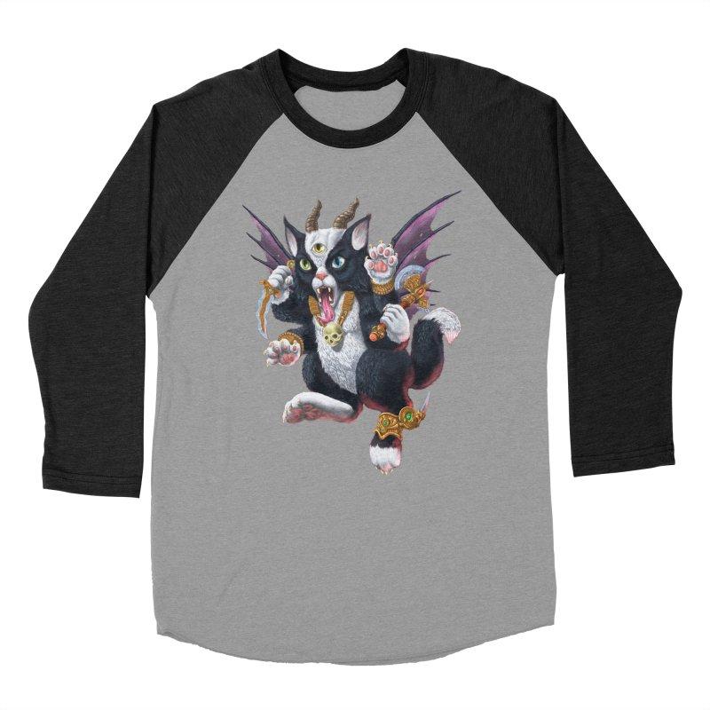 Demon Kitten Women's Baseball Triblend Longsleeve T-Shirt by Octophant's Artist Shop