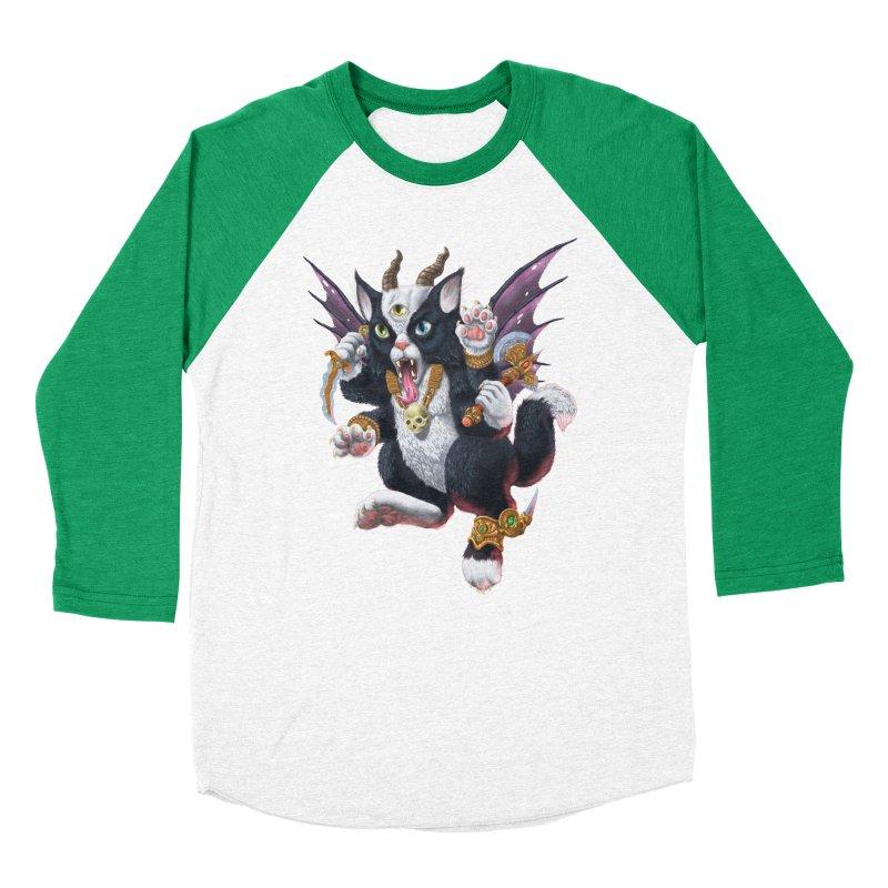 Demon Kitten Men's Baseball Triblend Longsleeve T-Shirt by Octophant's Artist Shop