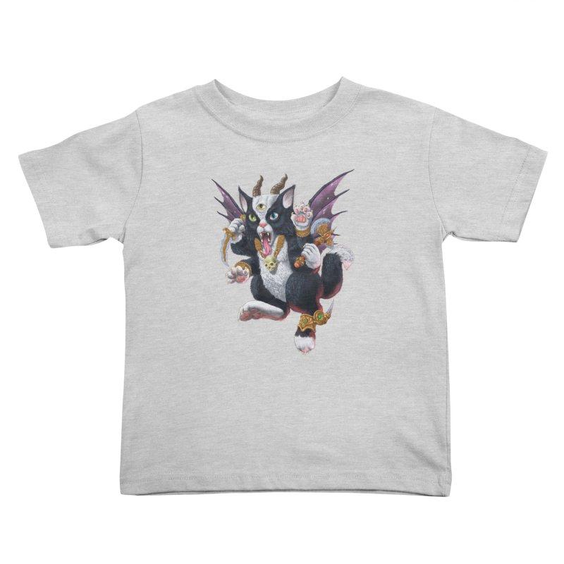 Demon Kitten Kids Toddler T-Shirt by Octophant's Artist Shop
