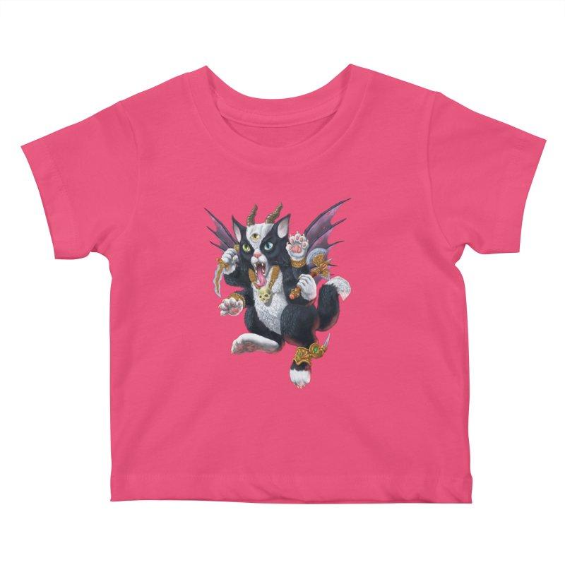 Demon Kitten Kids Baby T-Shirt by Octophant's Artist Shop