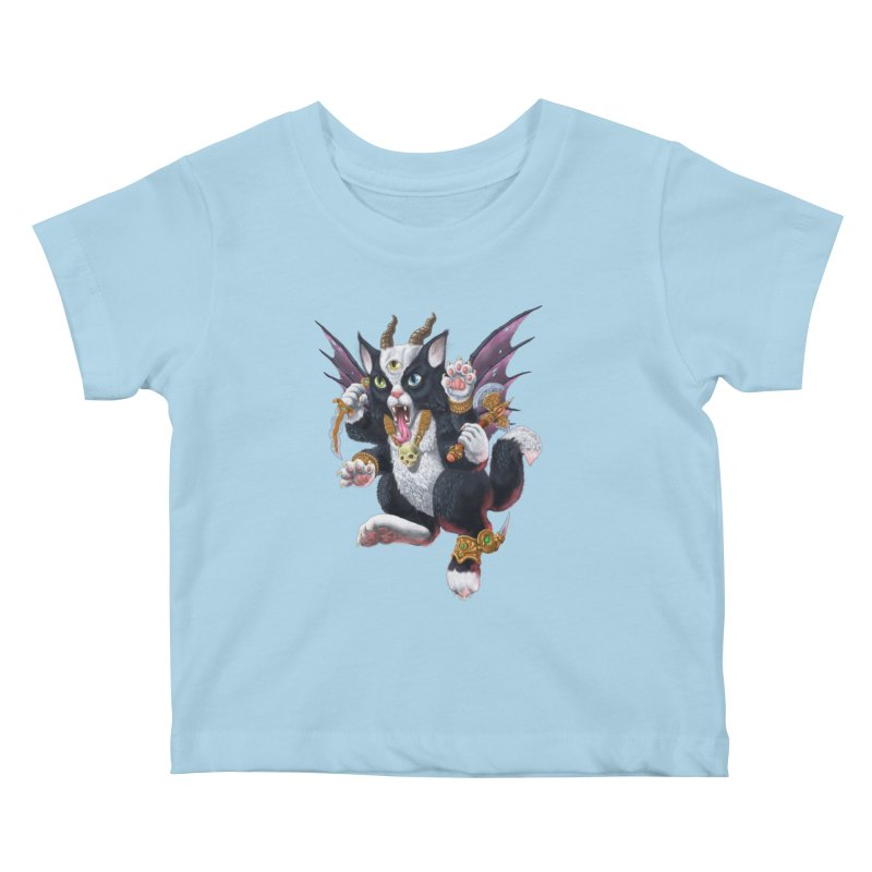 Demon Kitten Kids Baby T-Shirt by Octophant's Artist Shop