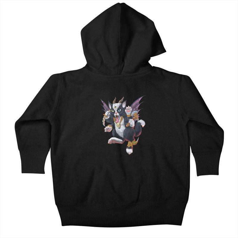 Demon Kitten Kids Baby Zip-Up Hoody by Octophant's Artist Shop