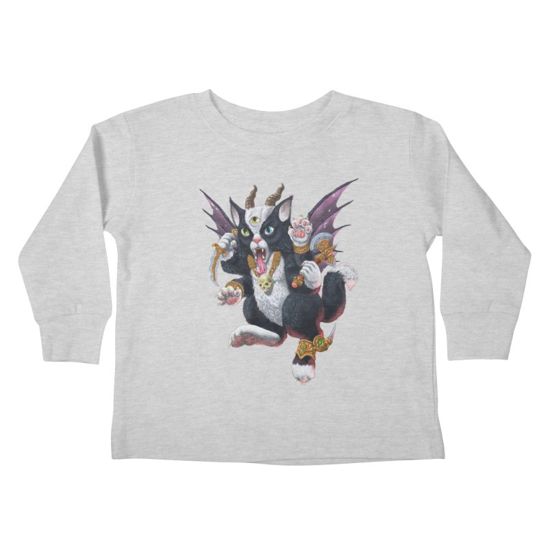 Demon Kitten Kids Toddler Longsleeve T-Shirt by Octophant's Artist Shop