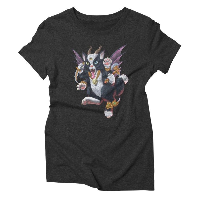 Demon Kitten Women's Triblend T-Shirt by Octophant's Artist Shop