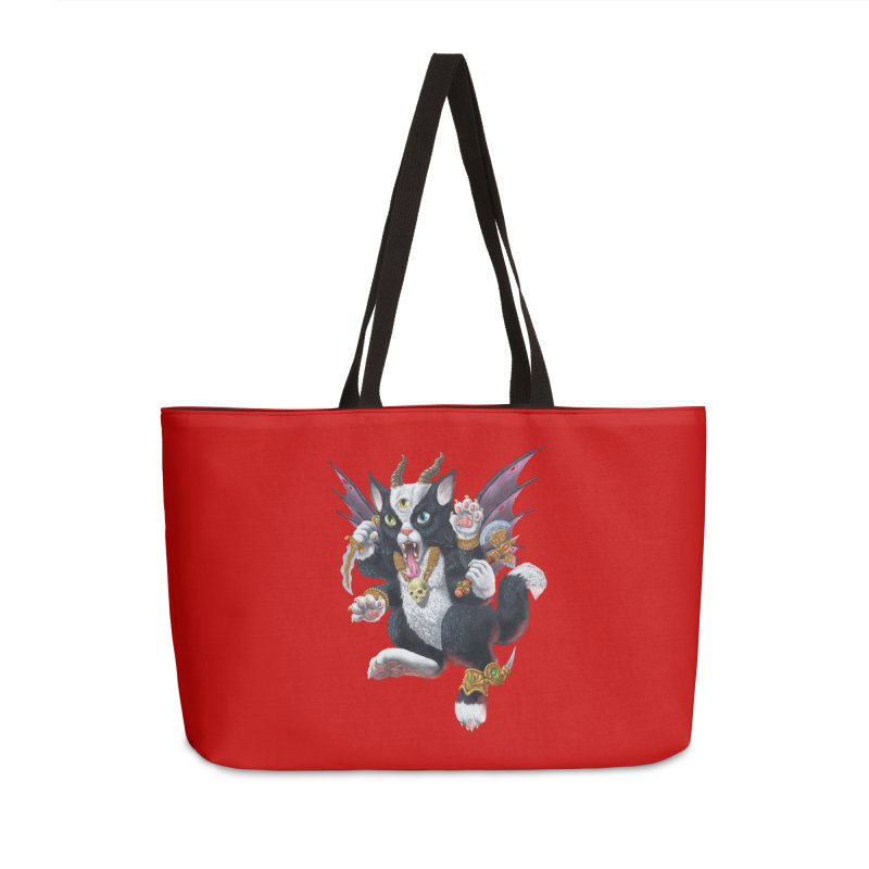 Demon Kitten Accessories Weekender Bag Bag by Octophant's Artist Shop