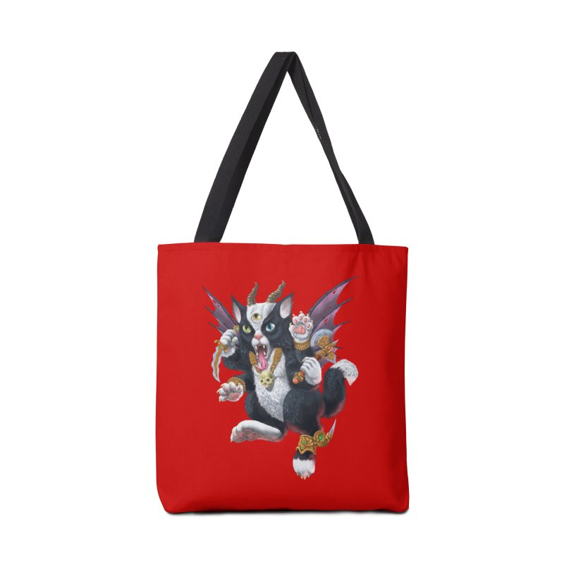 Demon Kitten Accessories Tote Bag Bag by Octophant's Artist Shop