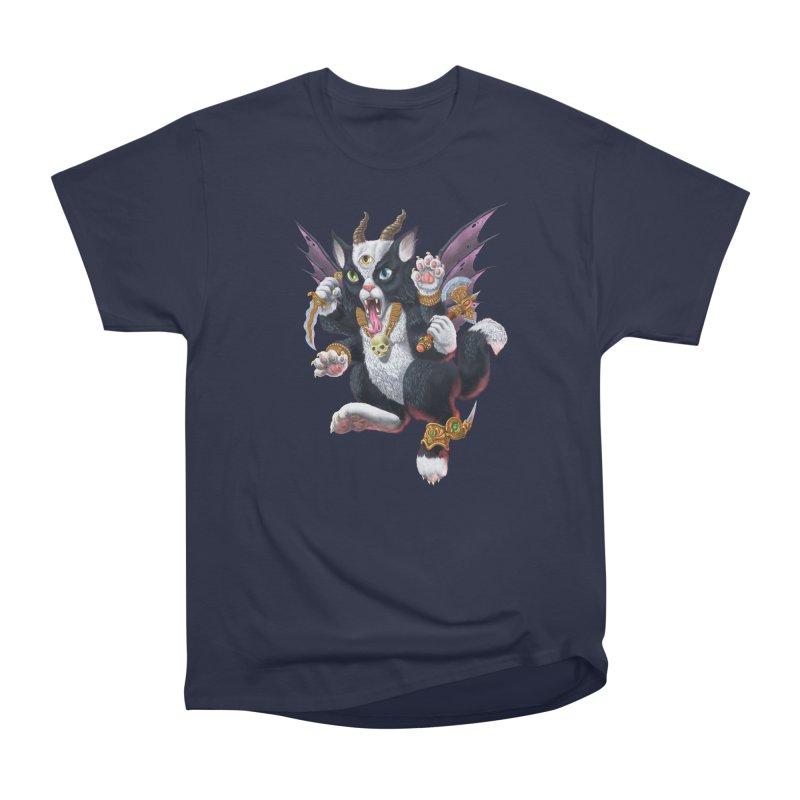 Demon Kitten Men's Heavyweight T-Shirt by Octophant's Artist Shop