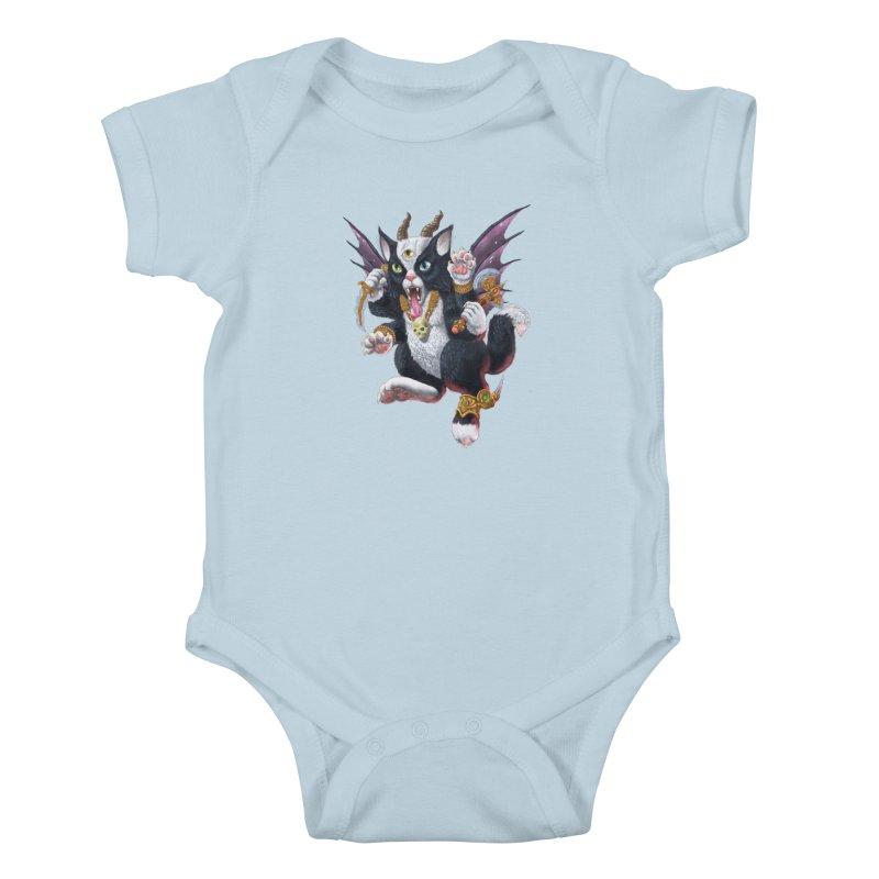 Demon Kitten Kids Baby Bodysuit by Octophant's Artist Shop