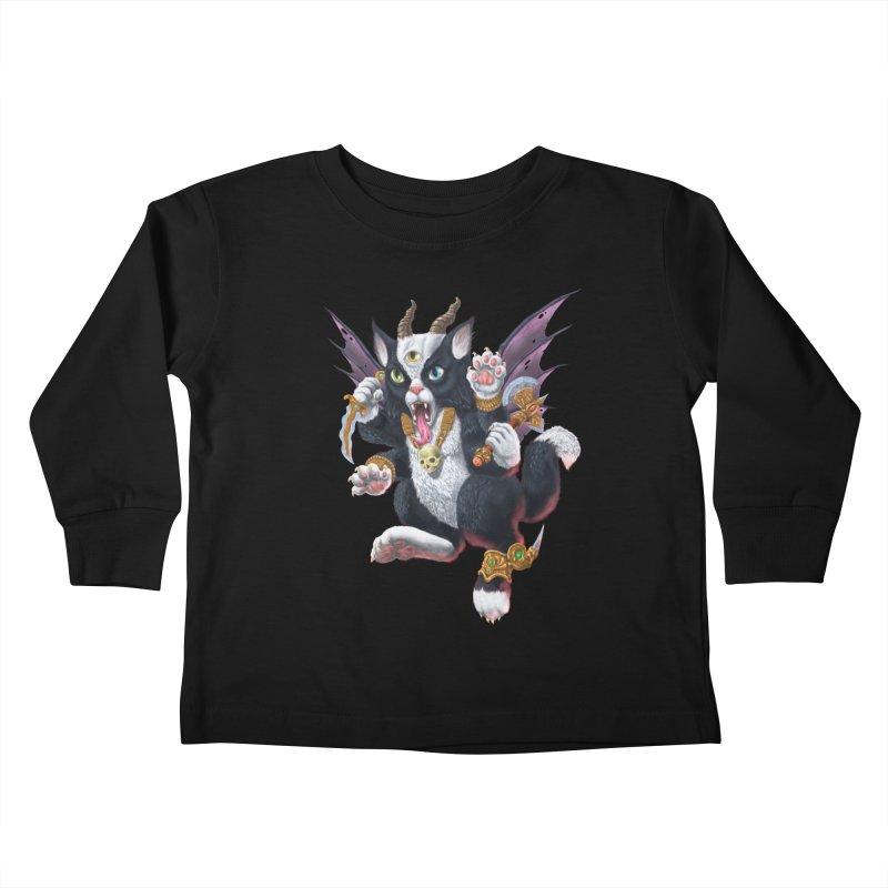 Demon Kitten Kids Toddler Longsleeve T-Shirt by Octophant's Artist Shop