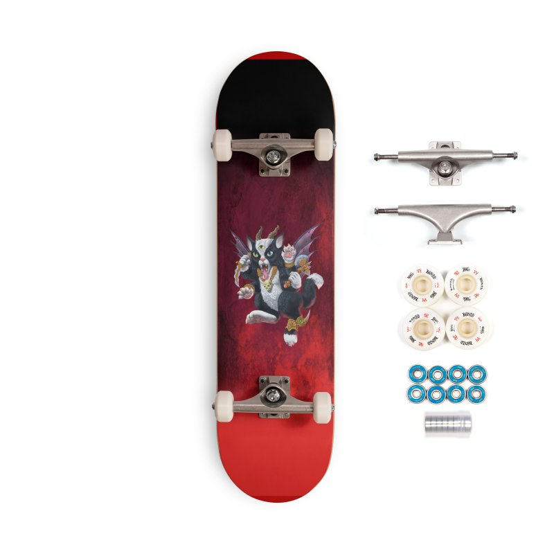 Demon Kitten Accessories Complete - Premium Skateboard by Octophant's Artist Shop
