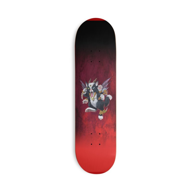 Demon Kitten Accessories Deck Only Skateboard by Octophant's Artist Shop