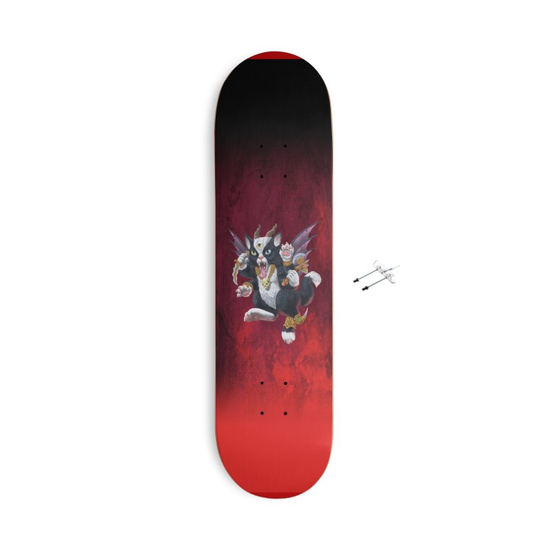 Demon Kitten Accessories Skateboard by Octophant's Artist Shop