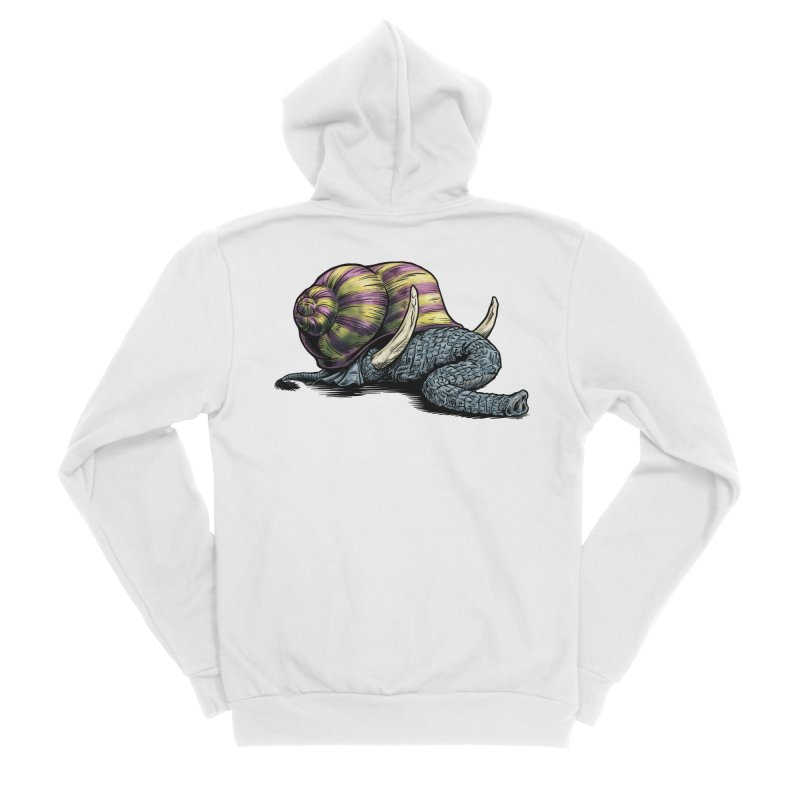 Shellephant Women's Sponge Fleece Zip-Up Hoody by Octophant's Artist Shop