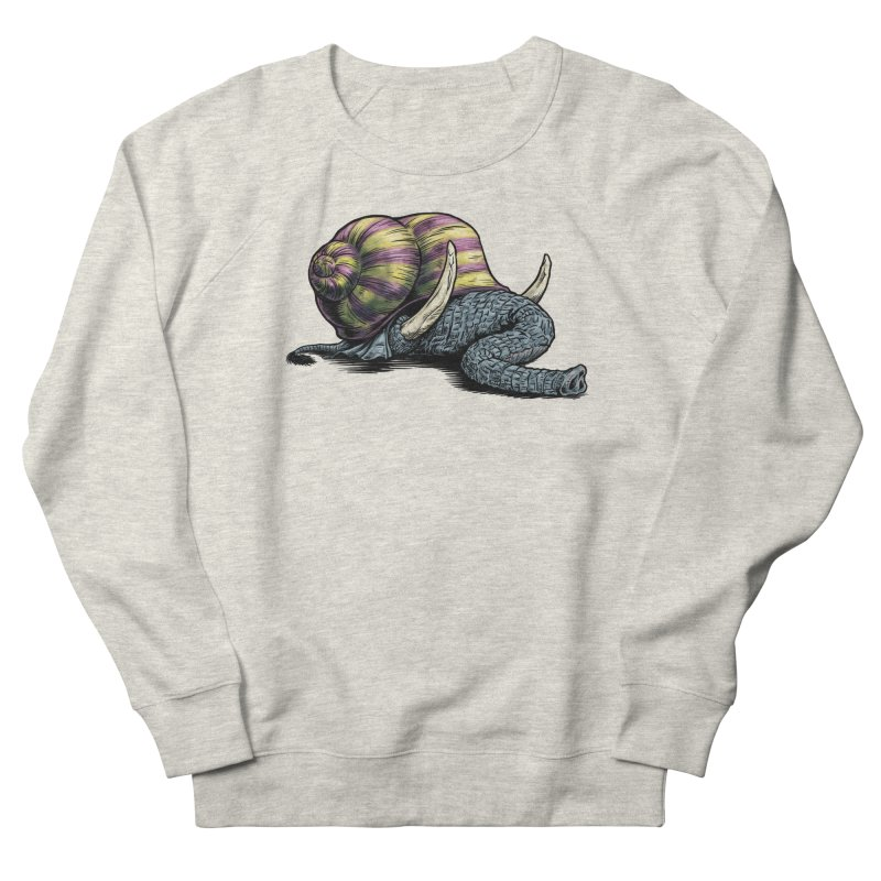 Shellephant Men's French Terry Sweatshirt by Octophant's Artist Shop