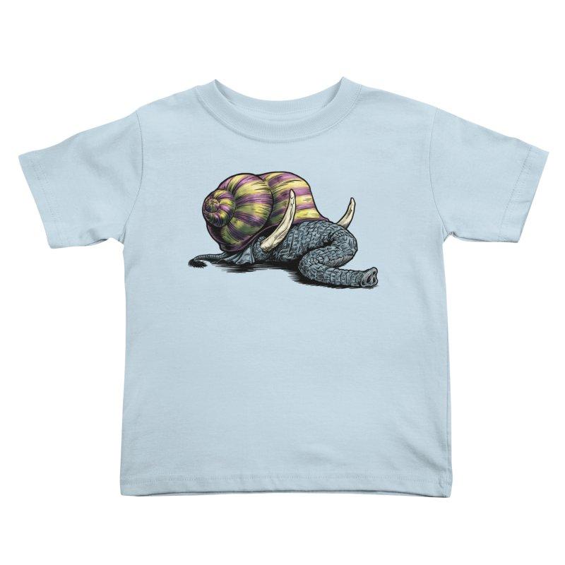 Shellephant Kids Toddler T-Shirt by Octophant's Artist Shop