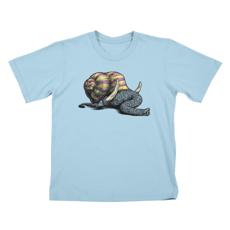 Shellephant Kids T-Shirt by Octophant's Artist Shop