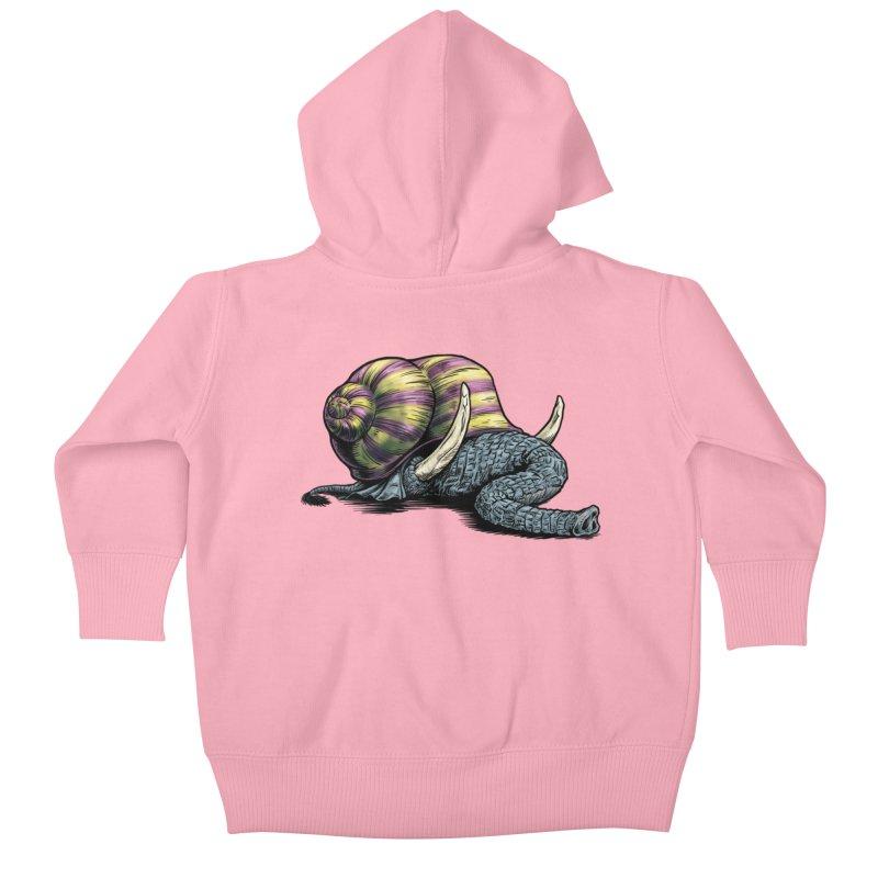 Shellephant Kids Baby Zip-Up Hoody by Octophant's Artist Shop