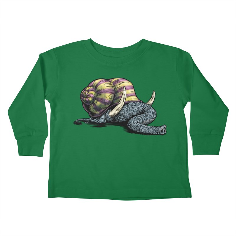 Shellephant Kids Toddler Longsleeve T-Shirt by Octophant's Artist Shop