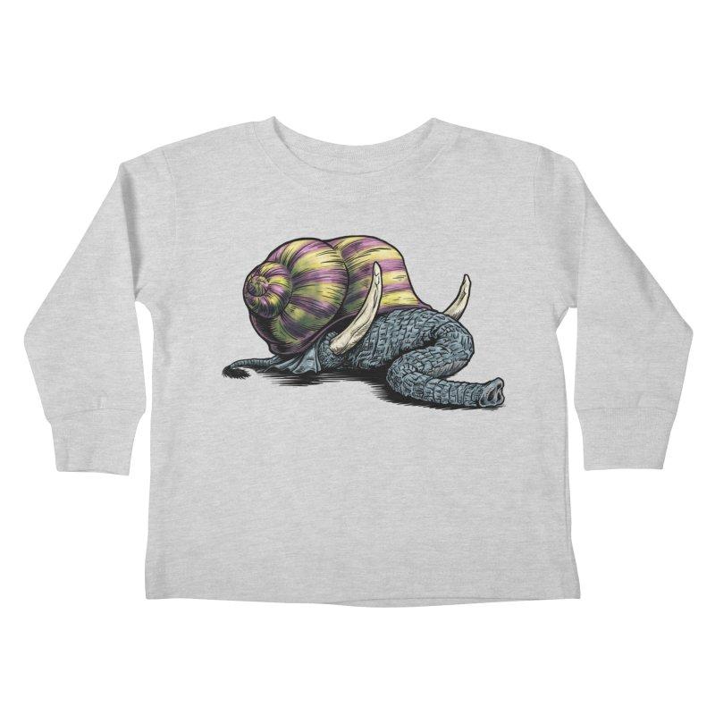 Shellephant Kids Toddler Longsleeve T-Shirt by Octophant's Artist Shop