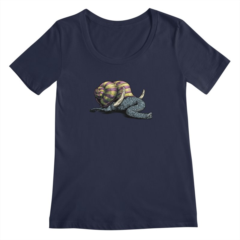 Shellephant Women's Regular Scoop Neck by Octophant's Artist Shop