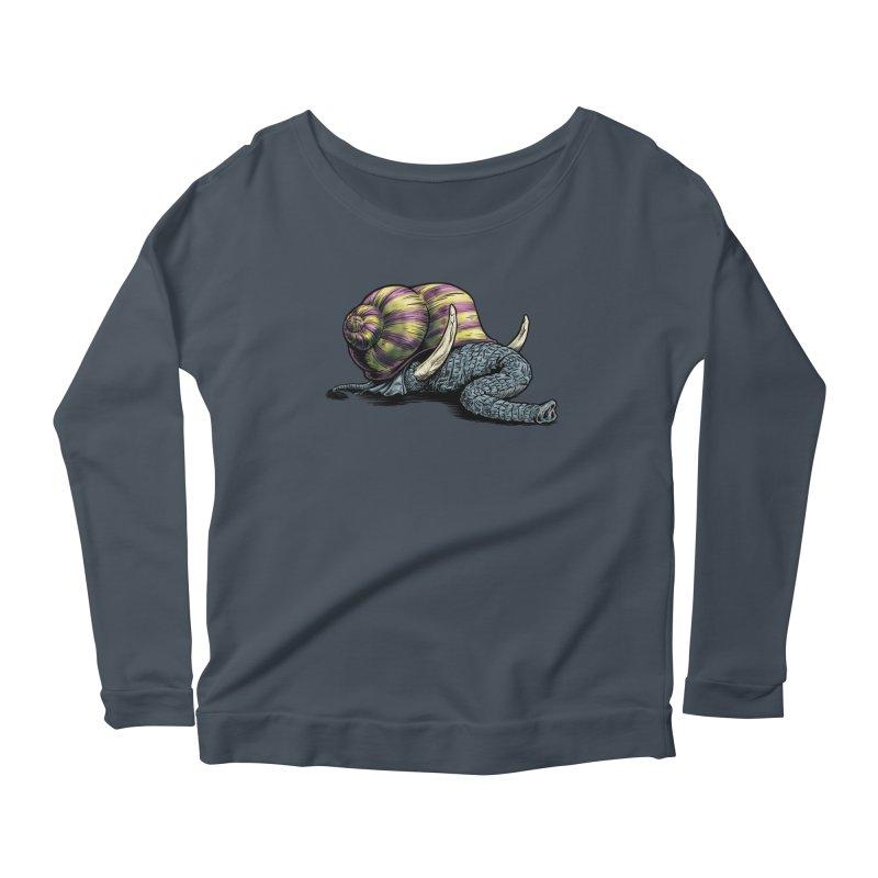 Shellephant Women's Scoop Neck Longsleeve T-Shirt by Octophant's Artist Shop