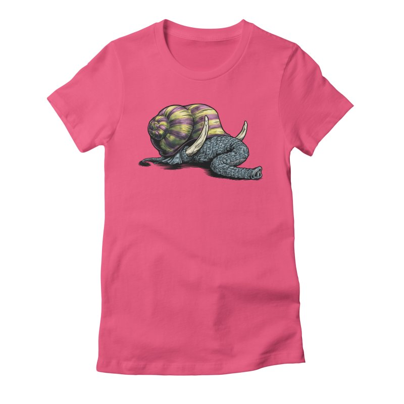 Shellephant Women's Fitted T-Shirt by Octophant's Artist Shop