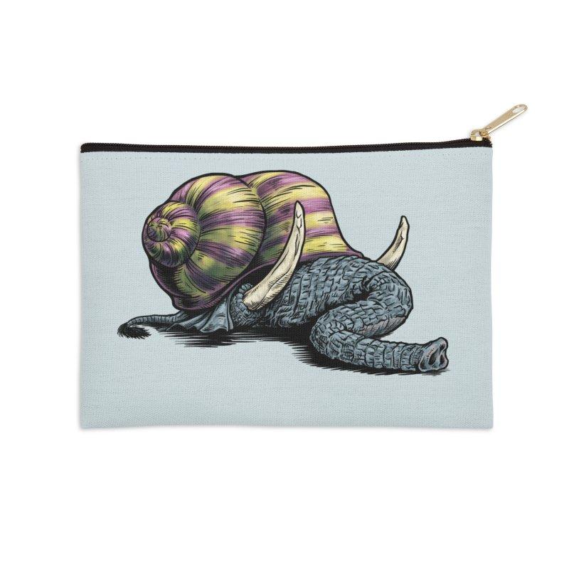 Shellephant Accessories Zip Pouch by Octophant's Artist Shop