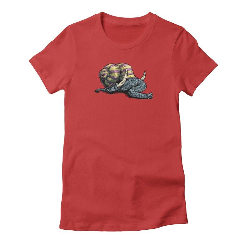 Shellephant Women's Fitted T-Shirt by Octophant's Artist Shop