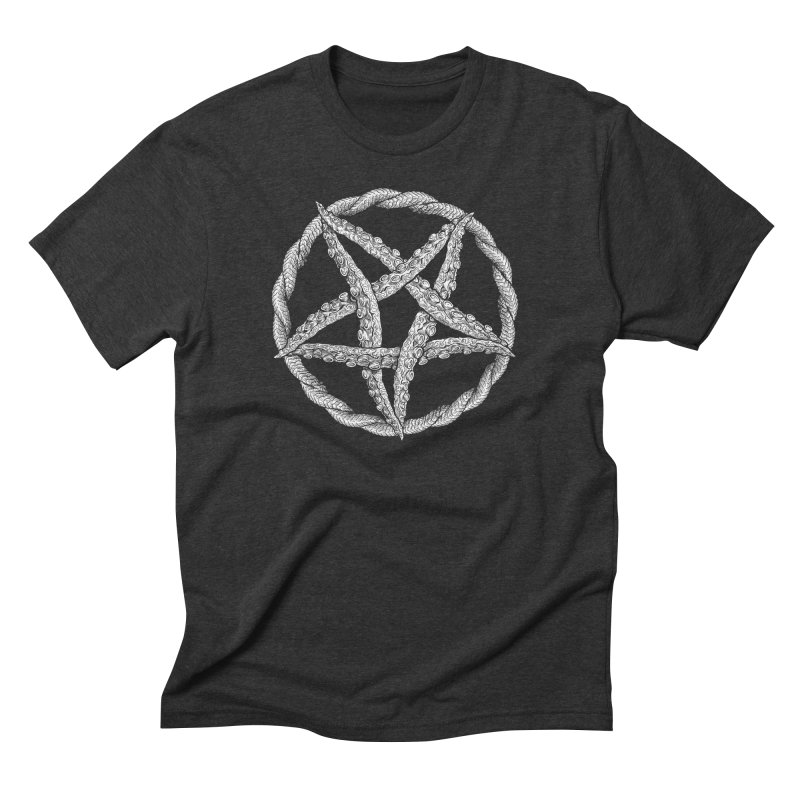 Tentagram Men's Triblend T-Shirt by Octophant's Artist Shop