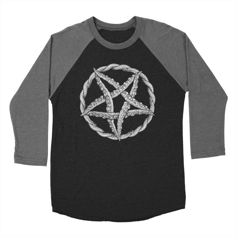Tentagram Men's Baseball Triblend Longsleeve T-Shirt by Octophant's Artist Shop