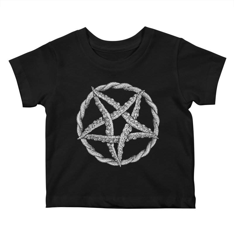 Tentagram Kids Baby T-Shirt by Octophant's Artist Shop
