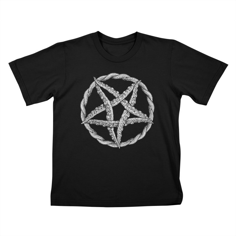Tentagram Kids T-Shirt by Octophant's Artist Shop