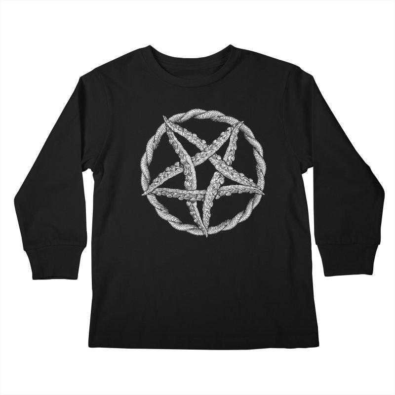 Tentagram Kids Longsleeve T-Shirt by Octophant's Artist Shop