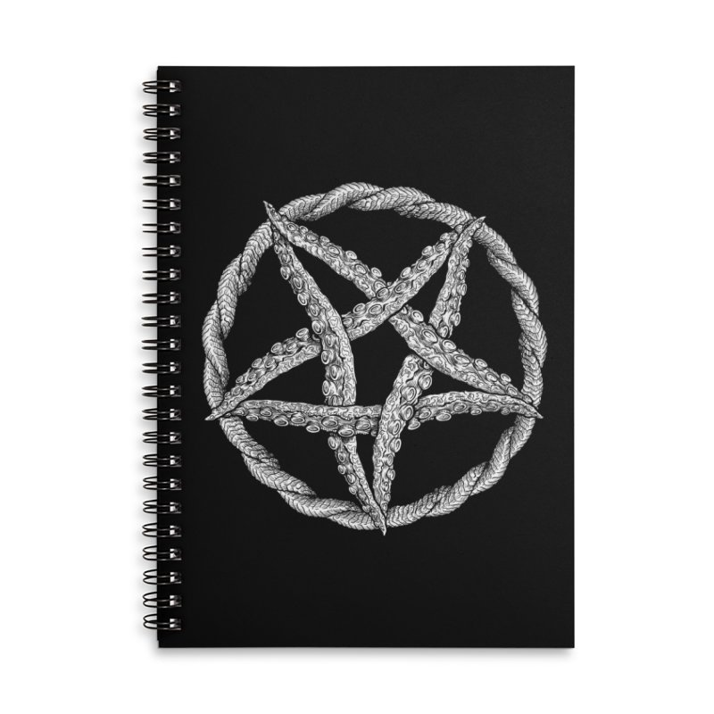 Tentagram Accessories Lined Spiral Notebook by Octophant's Artist Shop