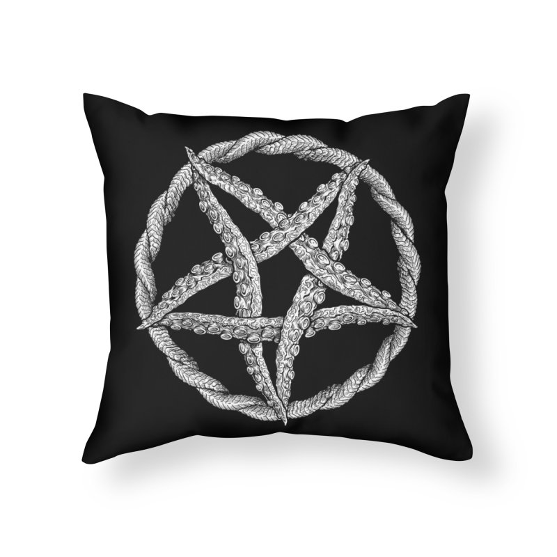 Tentagram Home Throw Pillow by Octophant's Artist Shop