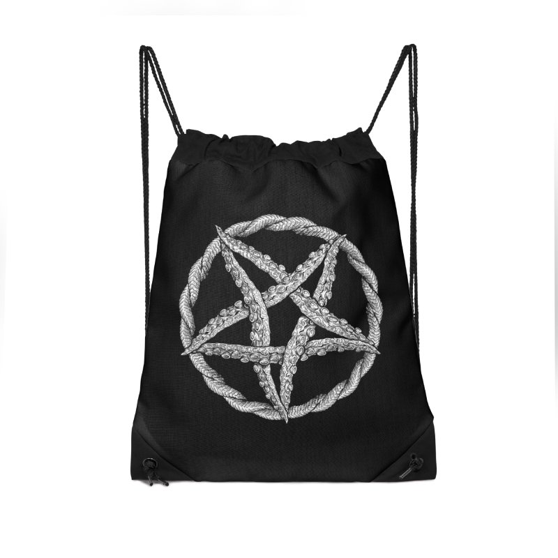 Tentagram Accessories Drawstring Bag Bag by Octophant's Artist Shop