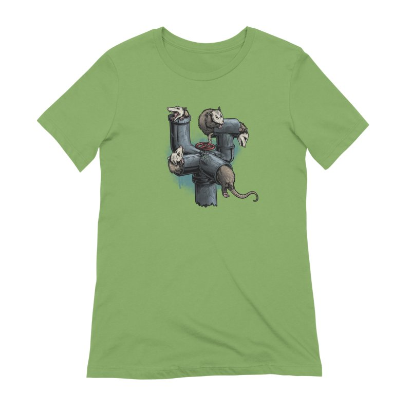 Possum Pipe Women's Extra Soft T-Shirt by Octophant's Artist Shop