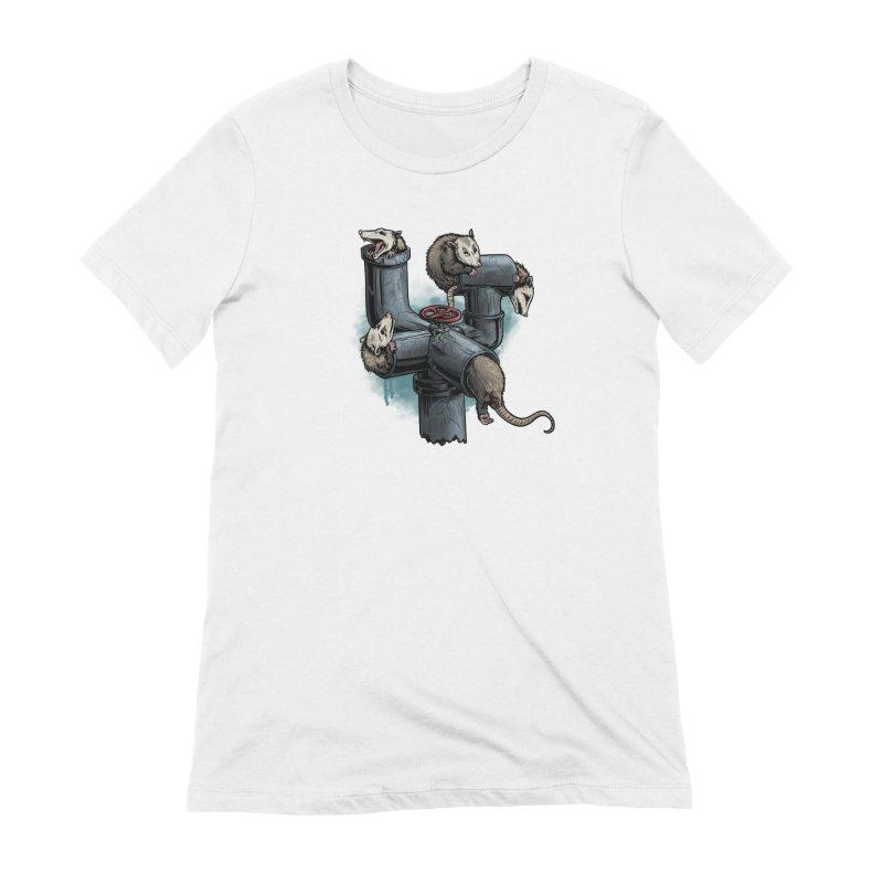 Possum Pipe Women's Extra Soft T-Shirt by Octophant's Artist Shop