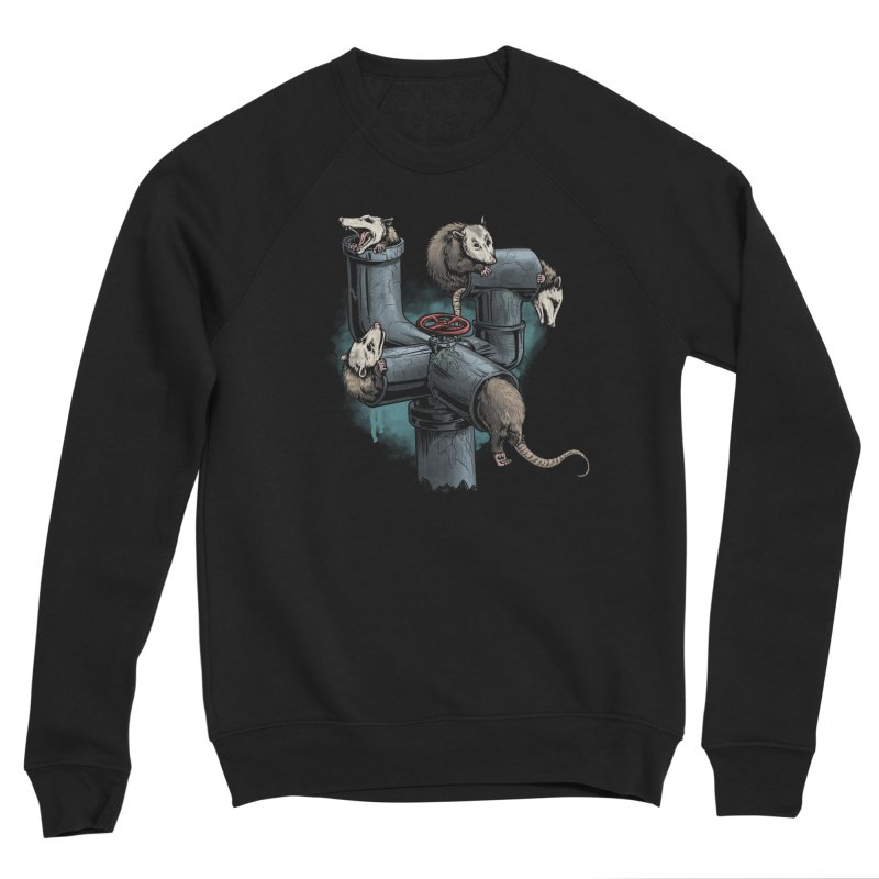 Possum Pipe Women's Sponge Fleece Sweatshirt by Octophant's Artist Shop
