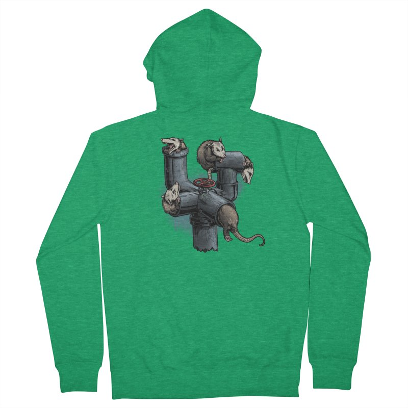 Possum Pipe Women's Zip-Up Hoody by Octophant's Artist Shop