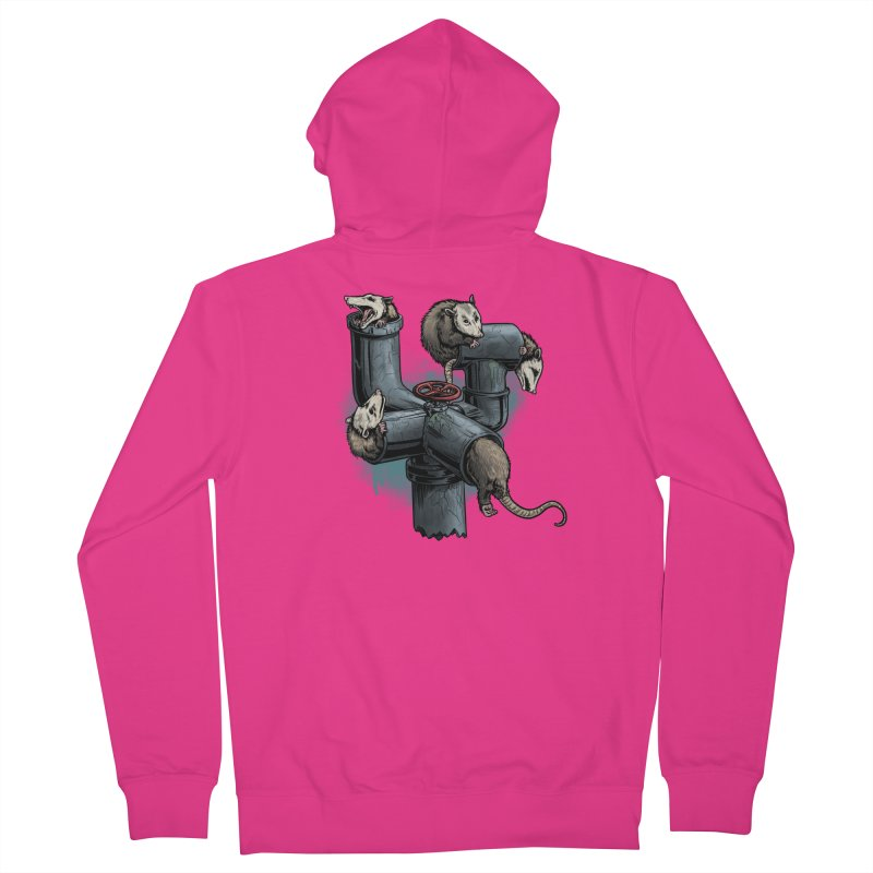 Possum Pipe Men's French Terry Zip-Up Hoody by Octophant's Artist Shop