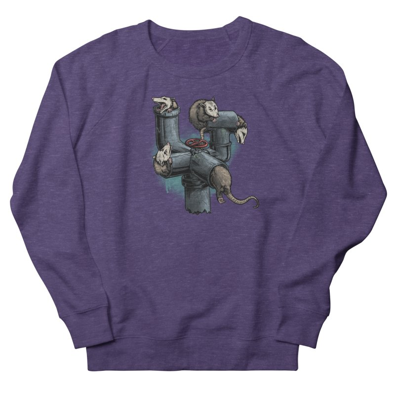 Possum Pipe Women's French Terry Sweatshirt by Octophant's Artist Shop