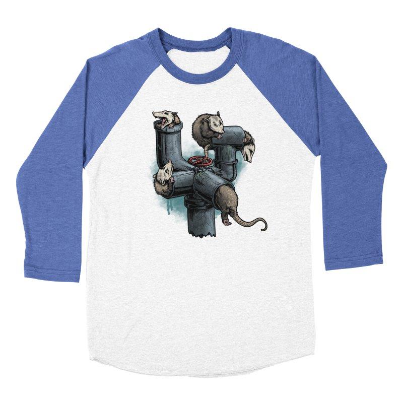 Possum Pipe Women's Baseball Triblend Longsleeve T-Shirt by Octophant's Artist Shop